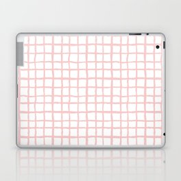 Pantone rose quartz grid pattern print minimal lines cross swiss cross painting hand drawn pastel Laptop & iPad Skin