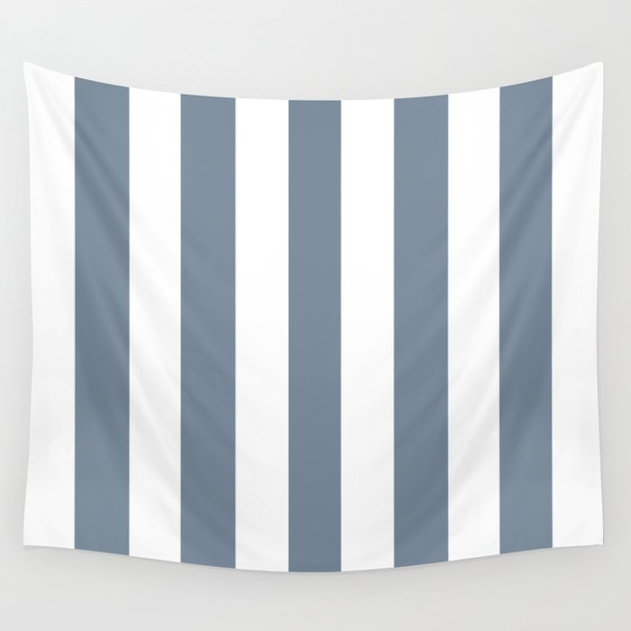 Light Slate Gray Solid Color White Vertical Lines Pattern Wall Tapestry By Makeitcolorful Society6