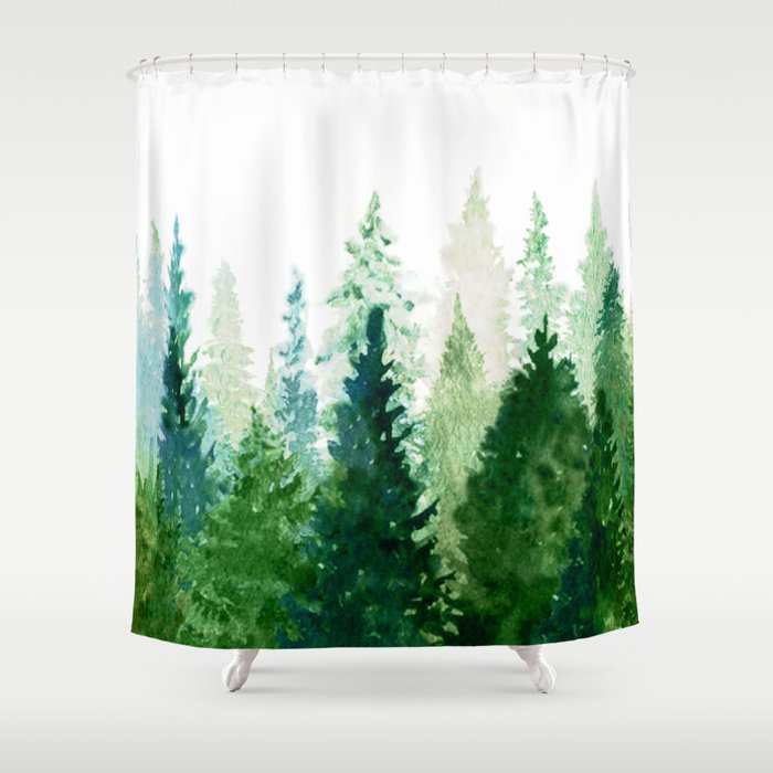 pine trees 2 shower curtain by nadja1 society6. Black Bedroom Furniture Sets. Home Design Ideas
