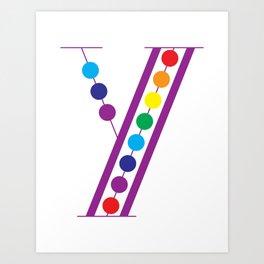 Y – Color Art Print