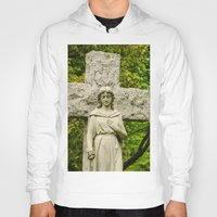 religious Hoodies featuring Religious Statue by Michael Moriarty Photography