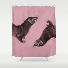 Save the european Mink !!! (FIEB) Realistic (c) 2017 Shower Curtain