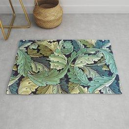 William Morris Herbaceous Italian Laurel Acanthus Textile Floral Leaf Print  Rug