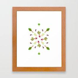 veggies 4 ever Framed Art Print