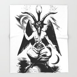 BAPHOMET by ELIPHAS LEVI Throw Blanket