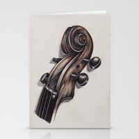 violin Stationery Cards featuring violin by Buffy Ino Kua