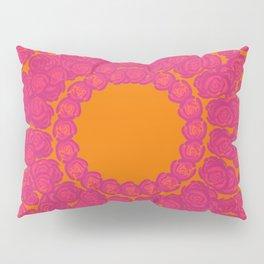Pink Rose Wreath Pillow Sham