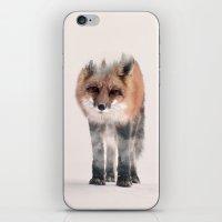 kitsune iPhone & iPod Skins featuring hondo kitsune by Peg Essert