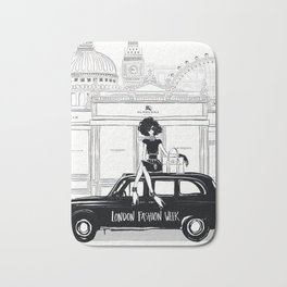 Fashion illustration - London Fashion Week Bath Mat