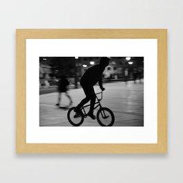 Ride the night Framed Art Print