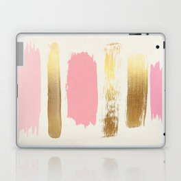 Brush Strokes (Rose/Gold) Laptop & iPad Skin