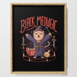 Black Meowgic Serving Tray