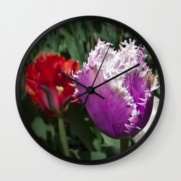 Gorgeous Tulips Wall Clock