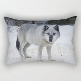 Lone wolf of the Canadian Rocky Mountains Rectangular Pillow