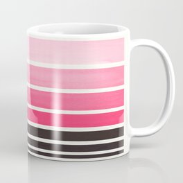 Pink Minimalist Watercolor Mid Century Staggered Stripes Rothko Color Block Geometric Art Coffee Mug