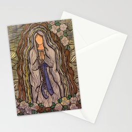 Lady of Lourdes Stationery Cards