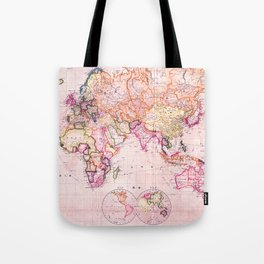 Vintage Map Pattern Tote Bag