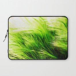 Green Swaying Grass in Summer Breeze Laptop Sleeve