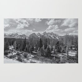 Grand Tetons from Schwabacher Road bw Rug
