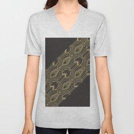 Art Deco Geometric Glam Unisex V-Neck