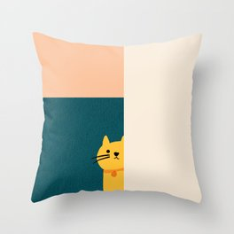 Little_Cat_Cute_Minimalism Throw Pillow