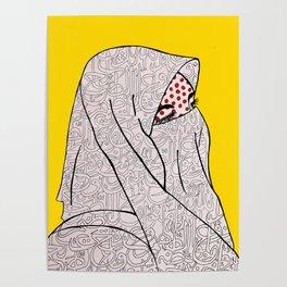 Roy Lichtenstein Meets the Arabic Woman Poster