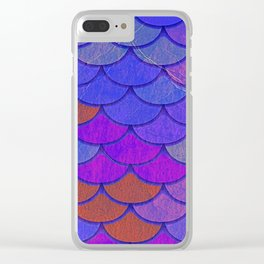 Multicolor Scales Clear iPhone Case
