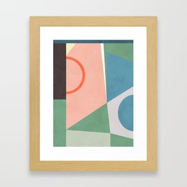 geometric shapes abstract art Framed Art Print
