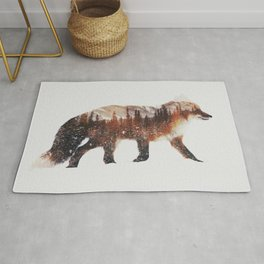 Arctic Red Fox Rug