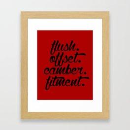flush offset camber fitment v3 HQvector Framed Art Print