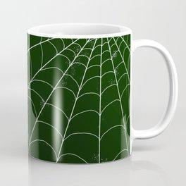 Spiderweb on Emerald Coffee Mug
