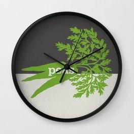 Peas/Carrots Wall Clock