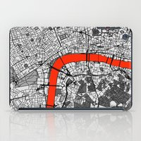 london map iPad Cases featuring London Map by Dizzy Moments