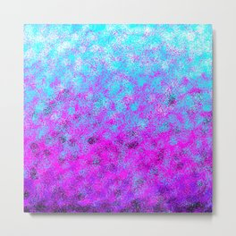 Totally Awesome Bright Turquoise & Fuchsia Pink Metal Print