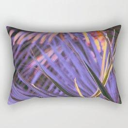Palmetto Abstract Blue Rectangular Pillow