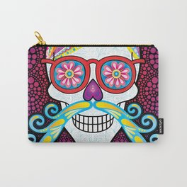Sugar Skull (Mustachio) Carry-All Pouch