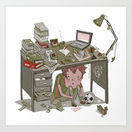 Overloaded Art Print