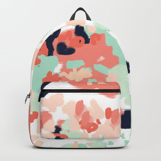 Suma - abstract gender neutral trendy home office nursery decor painting Backpack