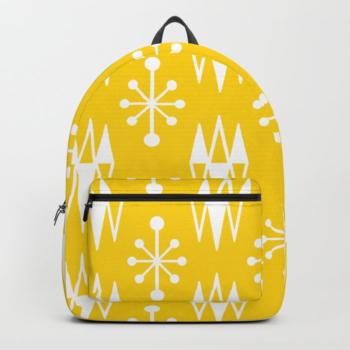 Mid Century Modern Abstract Atomic Diamonds 235 Backpack
