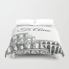 Roman Colosseum Print Duvet Cover
