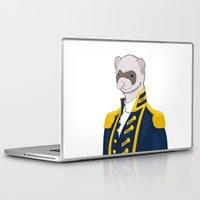 ferret Laptop & iPad Skins featuring Captain Ferret by Szilárd A Legjobb