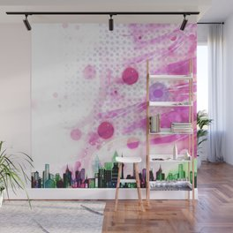 Bright Architecture and Snowflakes #3 Wall Mural