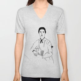 Emily Dickinson Unisex V-Neck