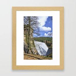Howden dam Framed Art Print