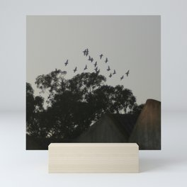 Nightfall flight Mini Art Print