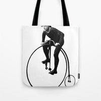 pushing daisies Tote Bags featuring Keep Pushing by William Michael