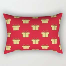 Christmas gifts - red and gold Rectangular Pillow