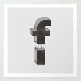 Dissecting Typefaces - f Art Print