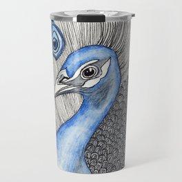 Peacock Pattern Travel Mug
