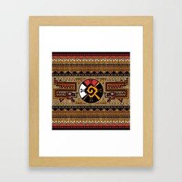 Colorful Hunab Ku Mayan symbol #5 Framed Art Print